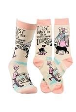 Socks-Dog Mom