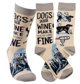 Socks-Dogs and Wine