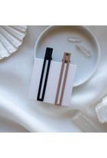 Nat and Noor Hair Clip Set, Leia in Black & Tan