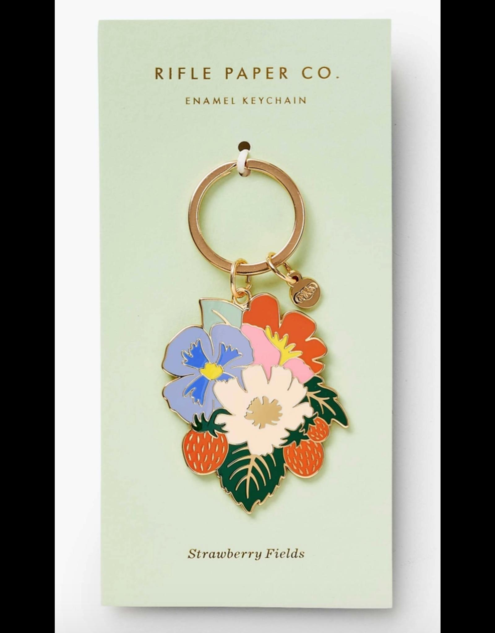 Strawberry Fields Enamel Keychain