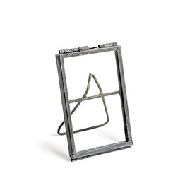 """XS Zinc Finish Picture Frame w/Stand 3""""x2"""""""