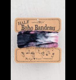 Natural LIfe Half Boho Bandeau, Tie Dye Rose Black White