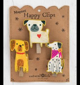 Natural LIfe Magnet Happy Clips, Set of 3, Dog