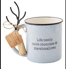 Mud Pie S'mores Enamel Mug Set