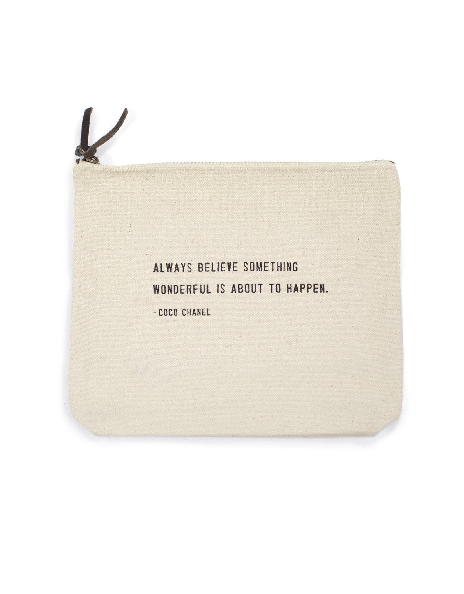 Canvas Bag, Coco Chanel, Always Believe Something