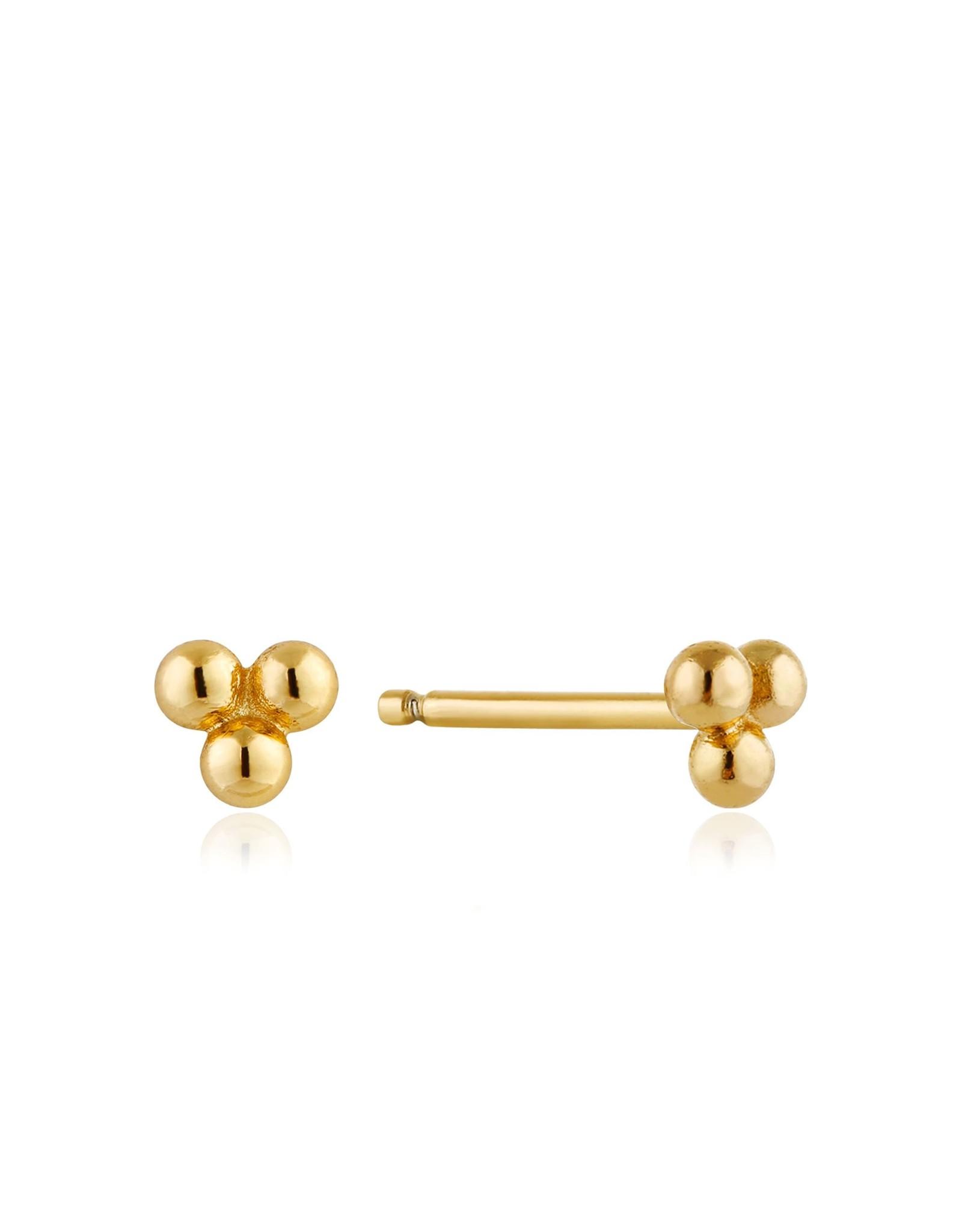 Ania Haie Modern Triple Ball Stud Earrings, Gold