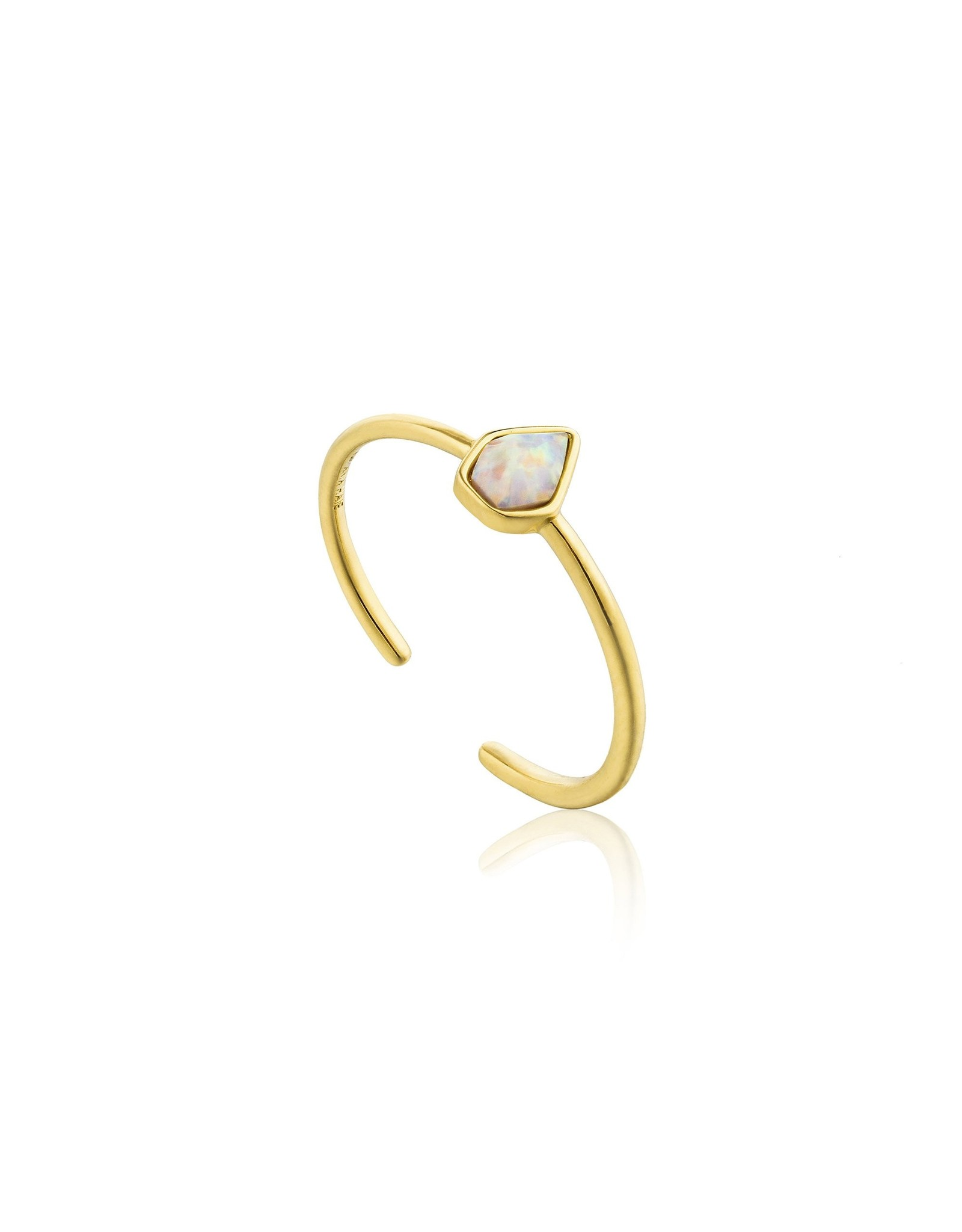 Ania Haie Opal Colour Adjustable Ring, gold