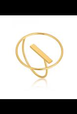 Ania Haie Modern Circle Adjustable Ring, Gold