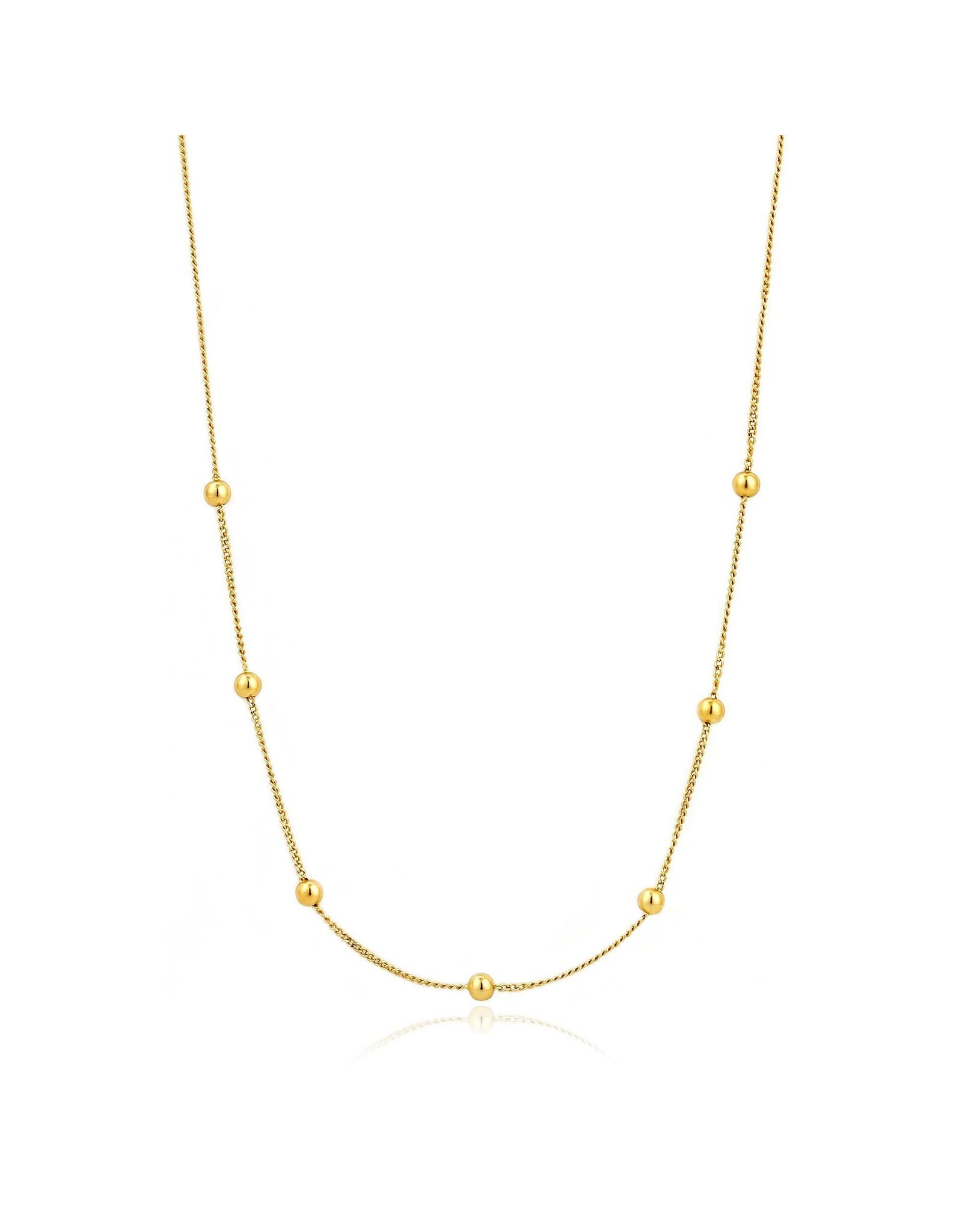 Ania Haie Modern Beaded Necklace, Gold