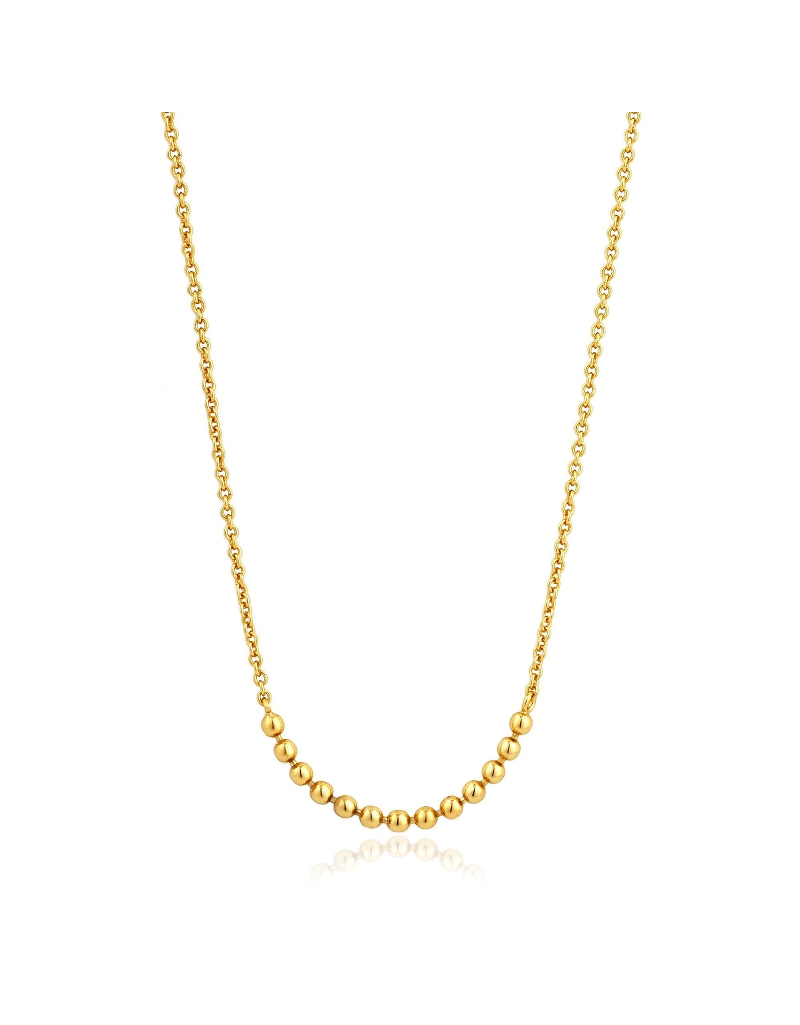 Ania Haie Modern Multiple Balls Necklace, Gold