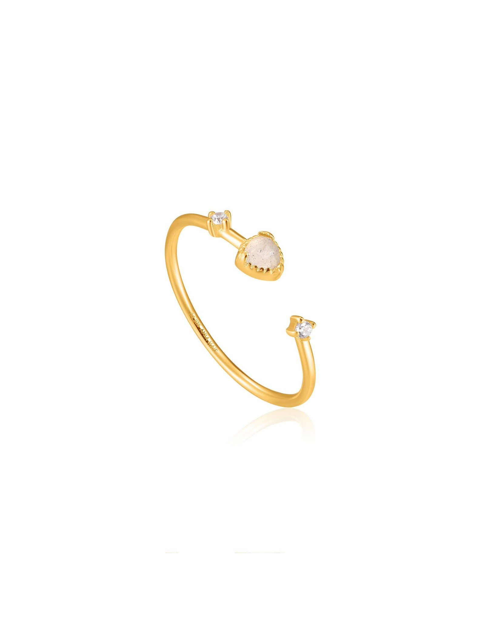 Ania Haie Midnight Adjustable Ring, Gold