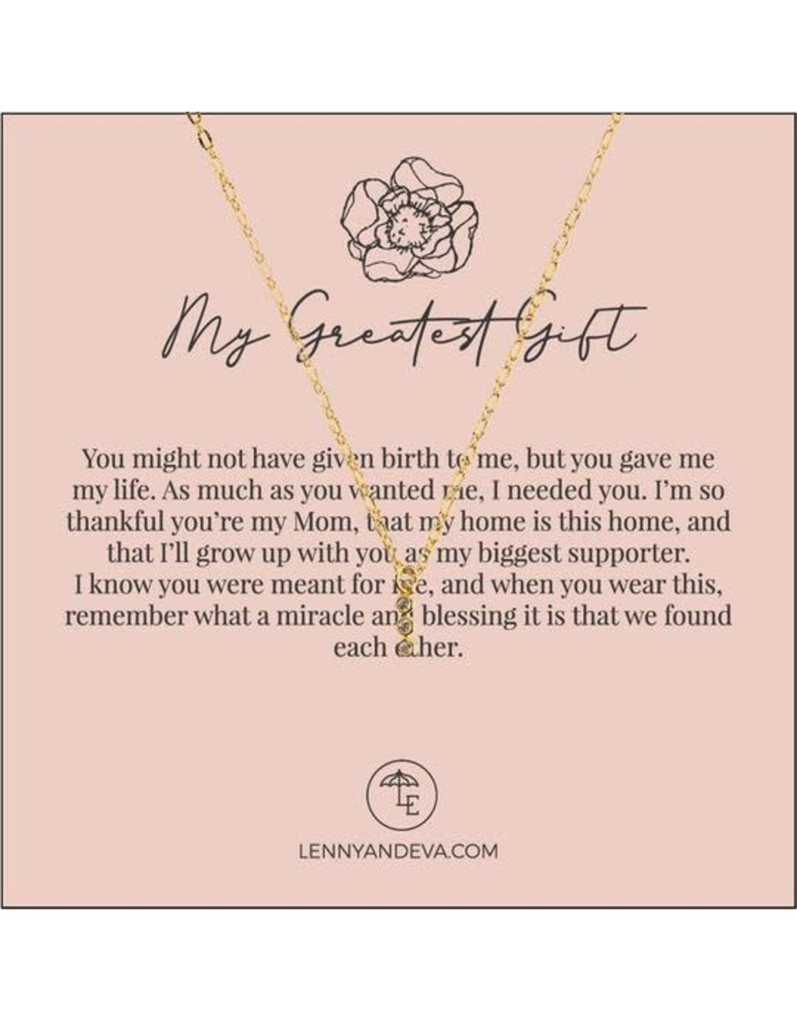 For Her Pendant Necklace, My Greatest Gift
