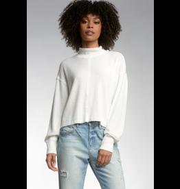 Center Seam Mock Neck Sweater