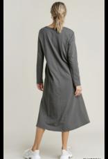 V-Neck Long Sleeve Maxi Dress