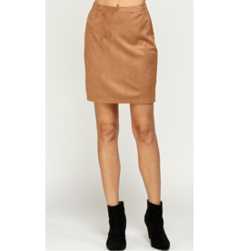 See and Be Seen Faux Suede Mini Skirt