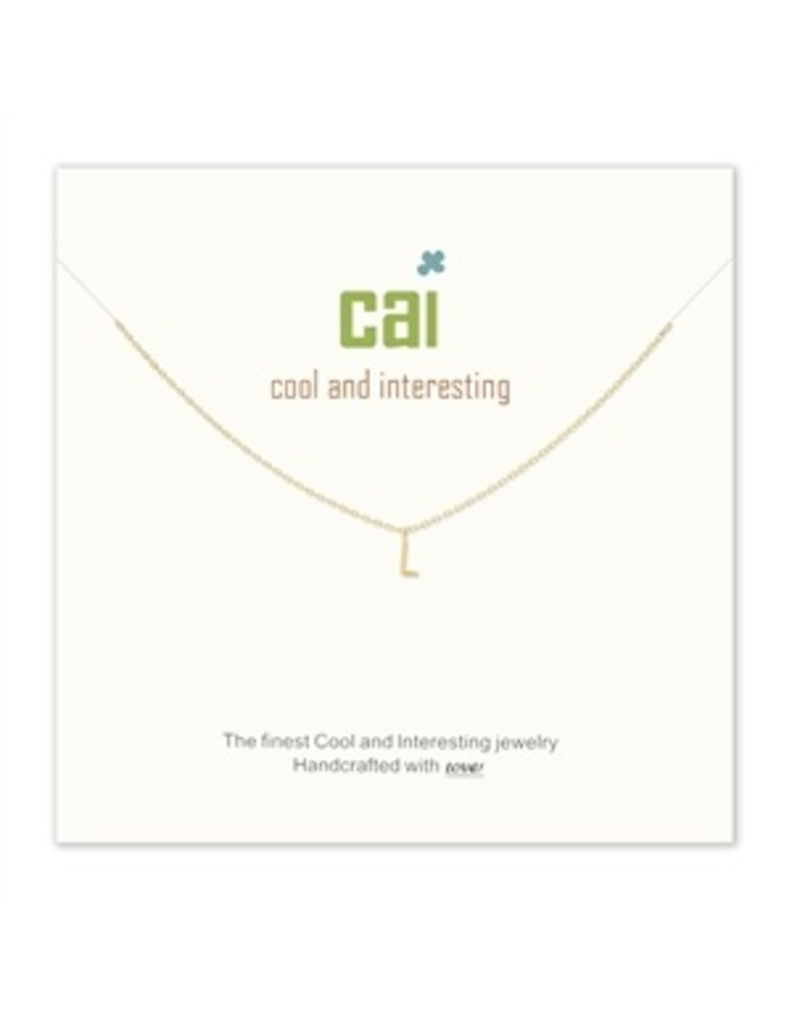 CAI Gold Mini Letter Initial Necklace