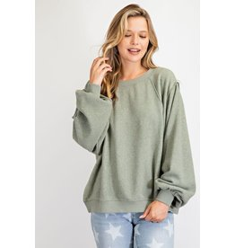 Brushed Knit Pullover