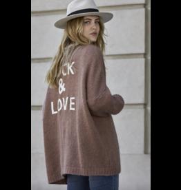 Cardigan Sweater, Rock & Love, mauve