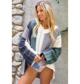 Green/Navy Multi Sweater