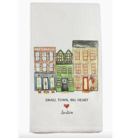 French Graffiti Small Town Big Heart Oxford Dishtowel