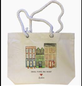 French Graffiti Small Town Big Heart Oxford Tote Bag