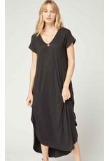 Entro Jersey Knit V-neck Maxi Dress