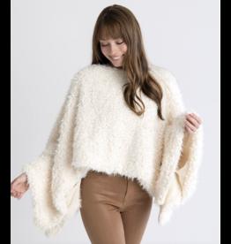 Oh So Cozy Sherpa Poncho, winter white