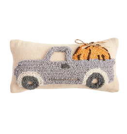 Mud Pie Truck with Pumpkin Mini Hook Pillow