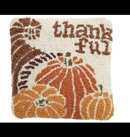 Mud Pie Gather Mini Hook Pillow-Thankful