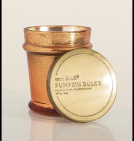 Pumpkin Dulce candle, Copper Glitz Found Glass