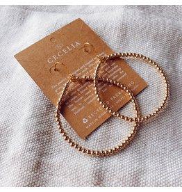 Cecelia Sarah Ann Hepburn Earrings, 3mm
