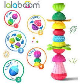 LALABOOM SENSORY BALLS & BEADS 12 PC SET LALABOOM