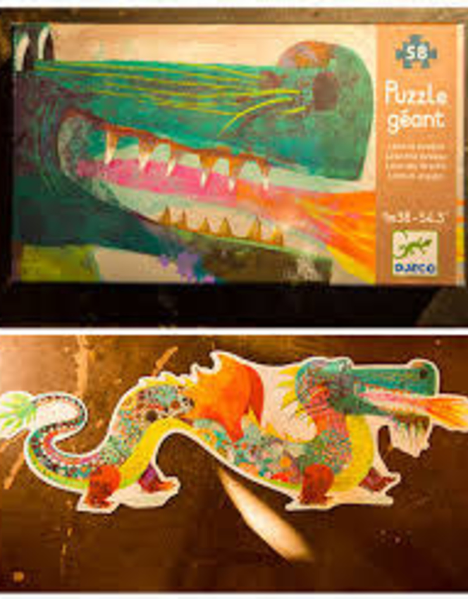 LEON THE DRAGON GIANT FLOOR PUZZLE
