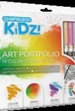 IMAGINATION INTERNATIONALS CHAMELEON KIDZ! ART PORTFOLIO 14 COLOR
