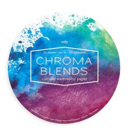 "Chroma Blends Circular Watercolor Paper Pad (10"" Diameter)"