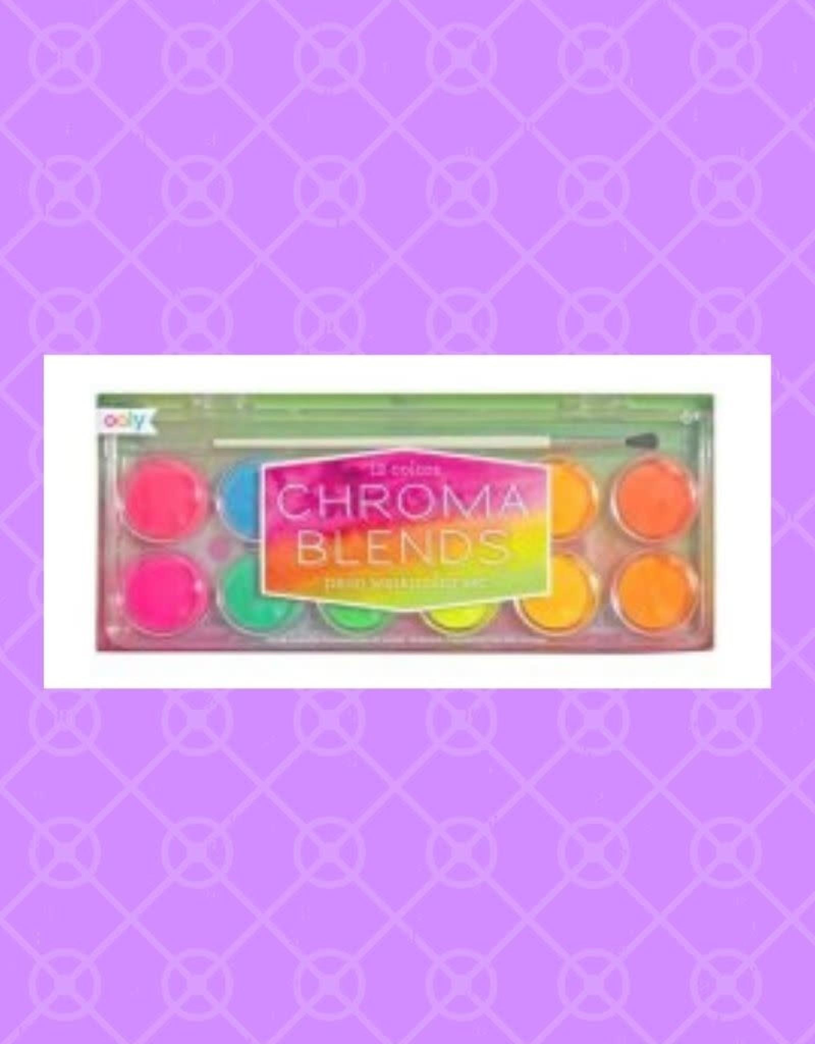 Chroma Blends Watercolor Set - Neon - 13 PC Set