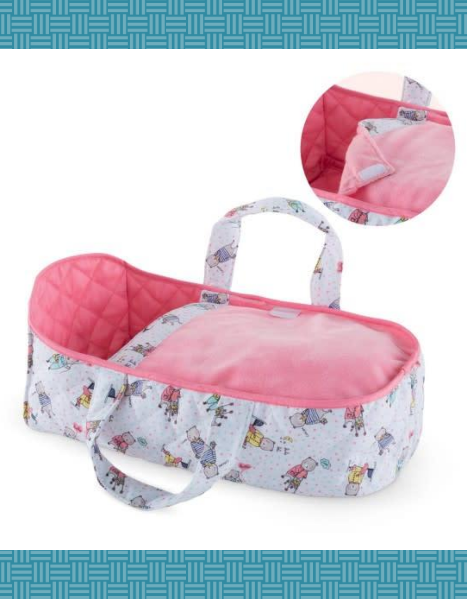 """COROLLE CARRY BED FOR 12"""" DOLLS"""