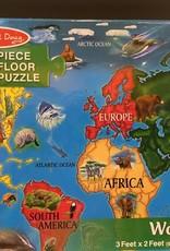 MELISSA & DOUG PUZZLE FLOOR MD WORLD MAP