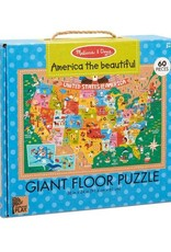 MELISSA & DOUG PUZZLE FLOOR MD AMERICA THE BEAUTIFUL
