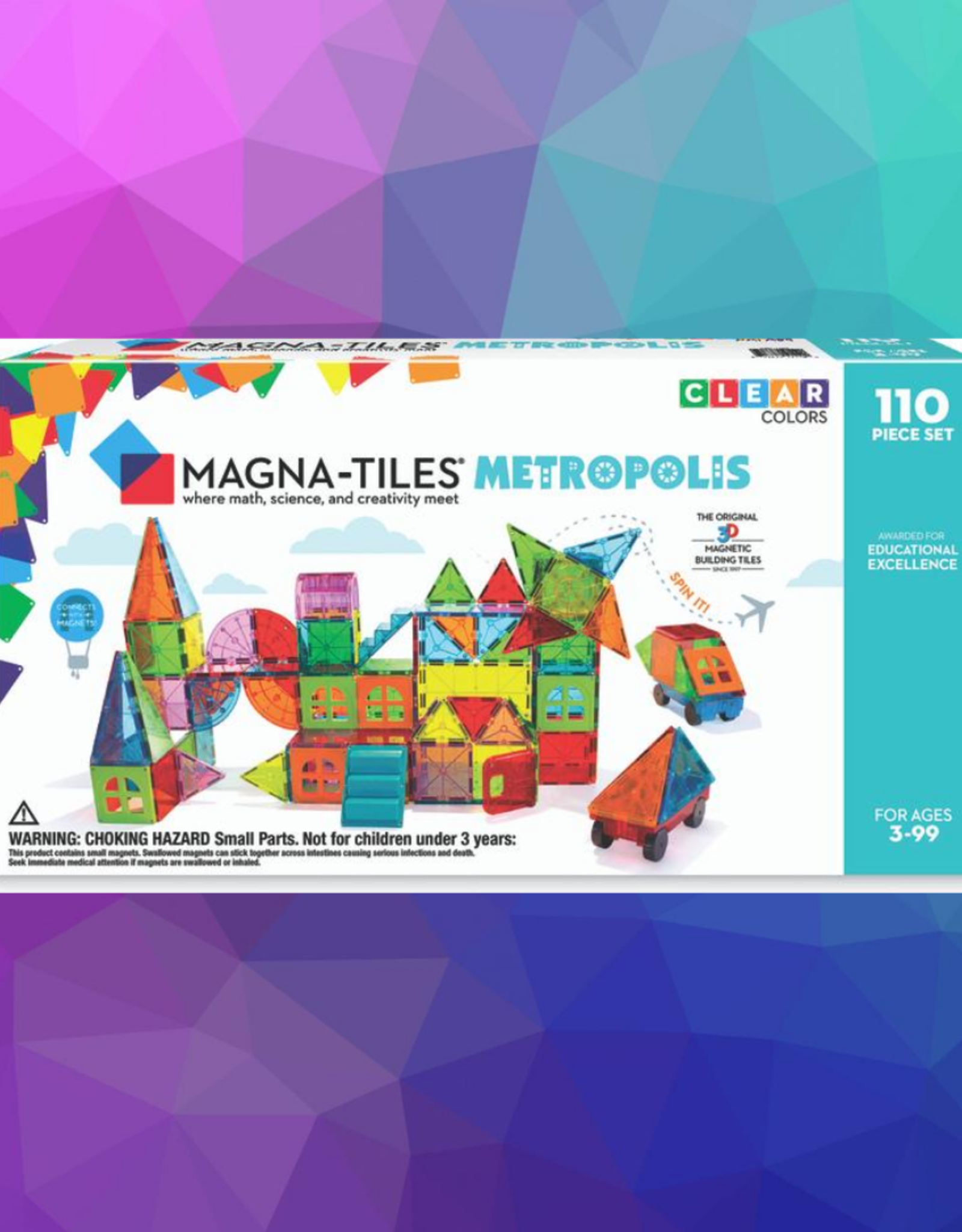 3D MAGNETIC BUILDING METROPOLIS MAGNA TILES 110 PC