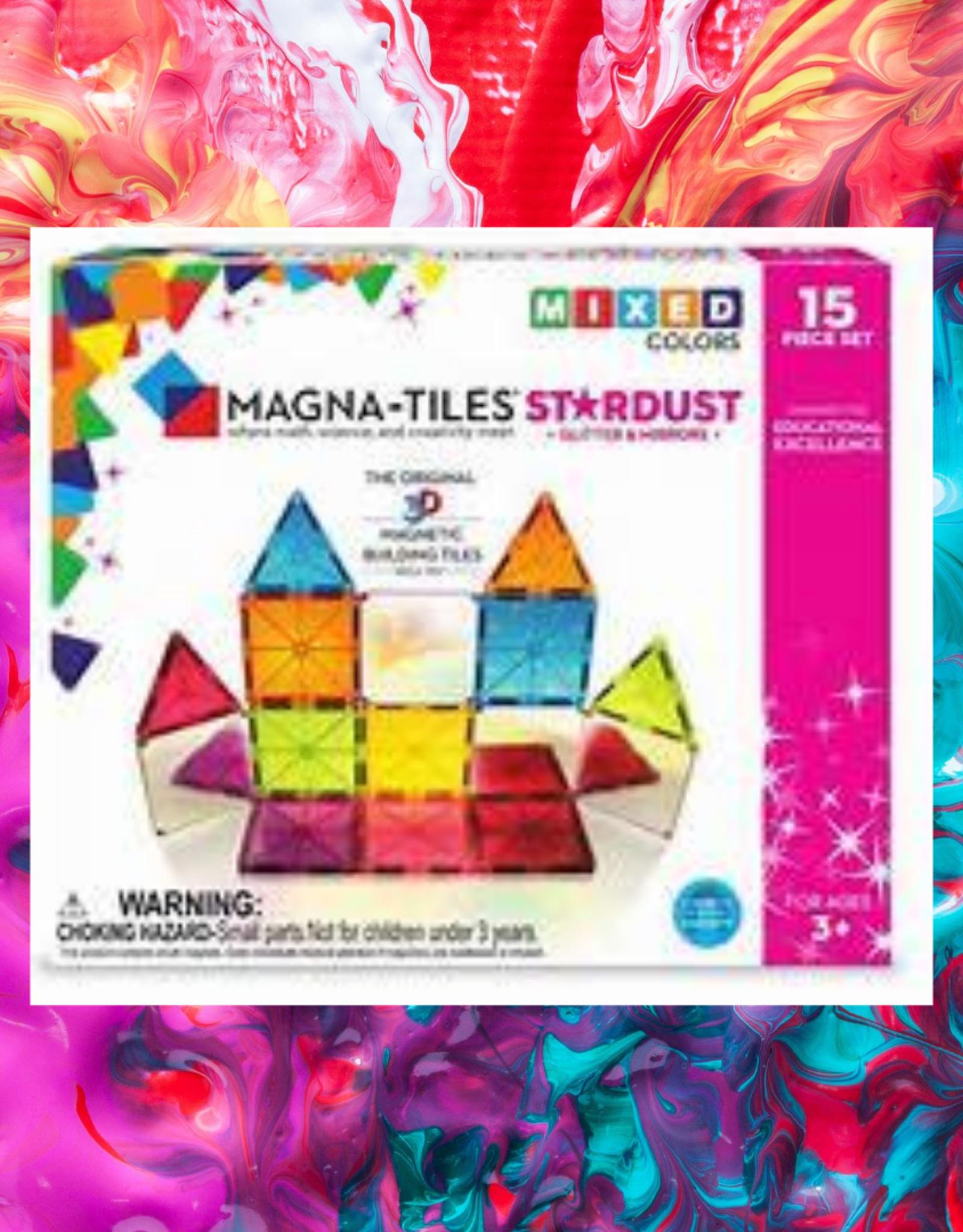 3D MAGNETIC BUILDING STARDUST MAGNA TILES 15 PC