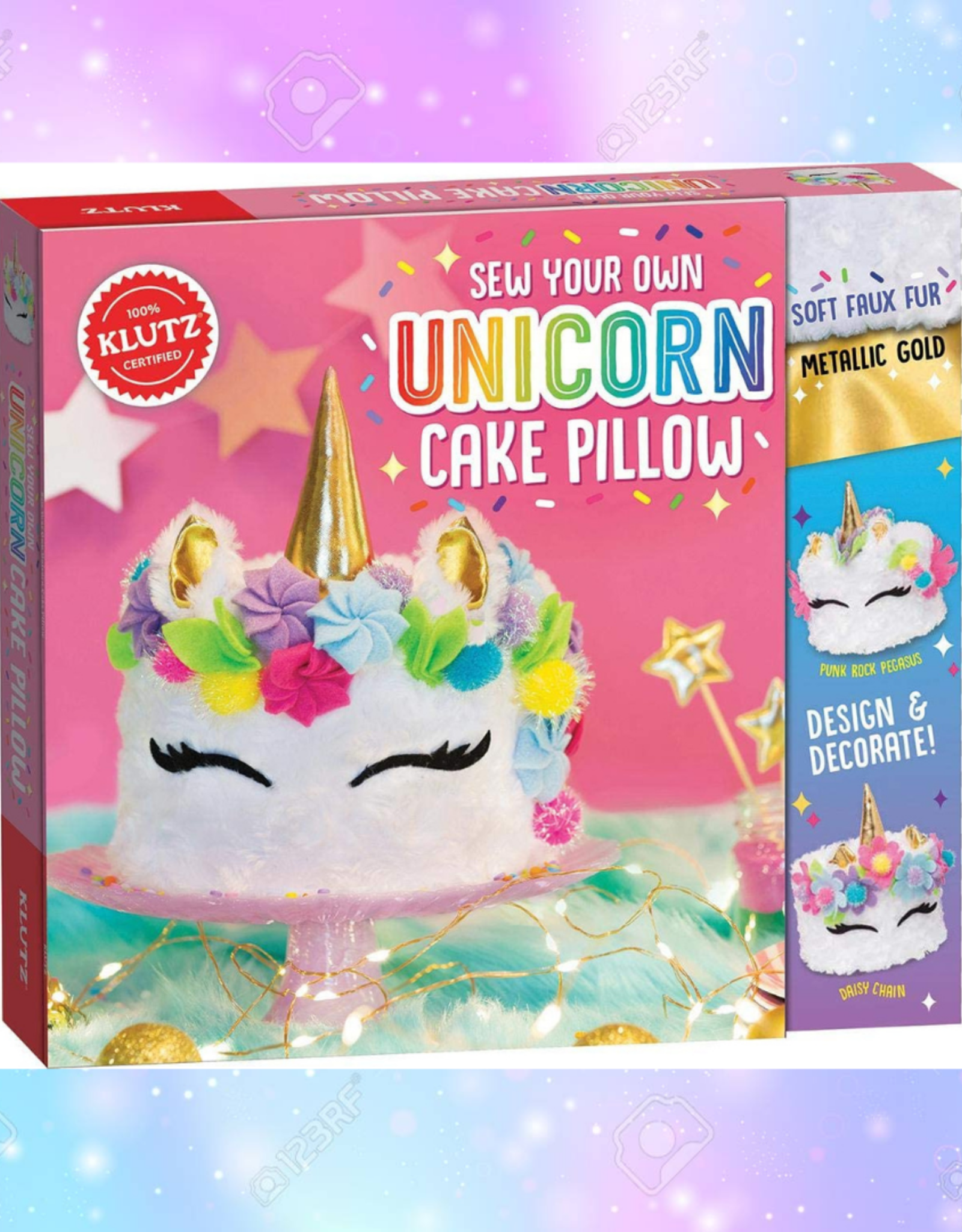 KLUTZ UNICORN CAKE PILLOW