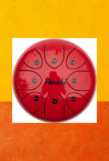 "AMAHI STEEL TONGUE DRUM 8"" RED"