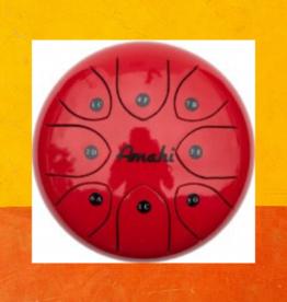 "AMAHI STEEL TONGUE DRUM 8"" RED"