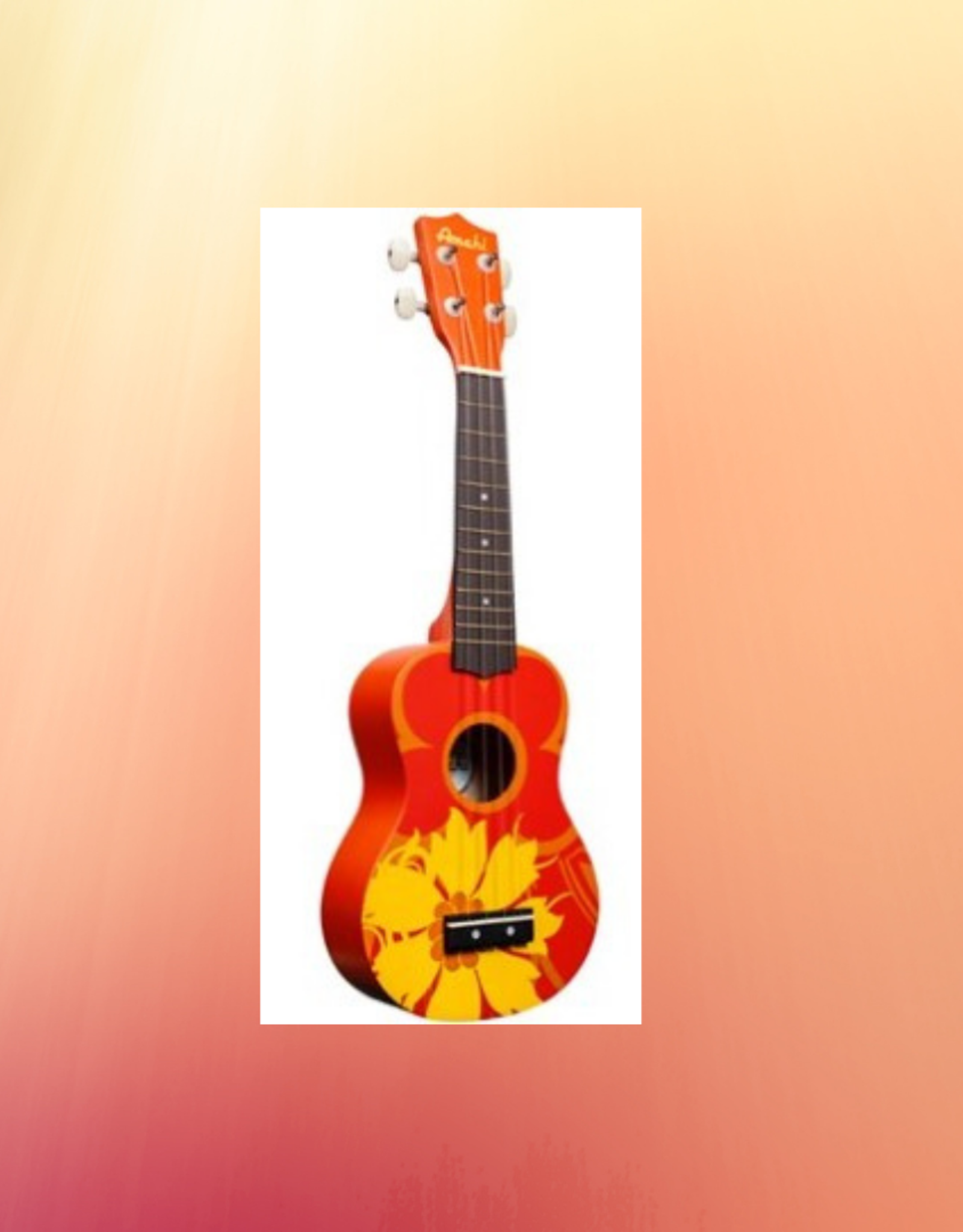 AMAHI UKULELES AMAHI ORANGE FLOWER