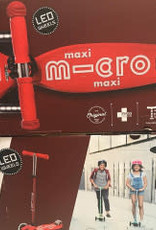 MICROSCOOTER MAXI MICRO LED RED SCOOTER