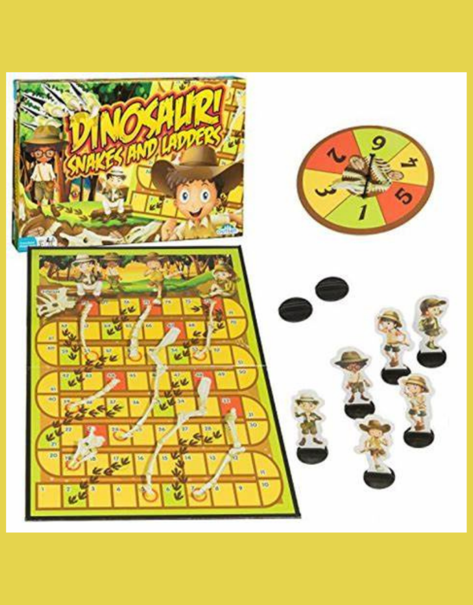 OUTSET MEDIA DINOSAUR SNAKES AND LADDERS