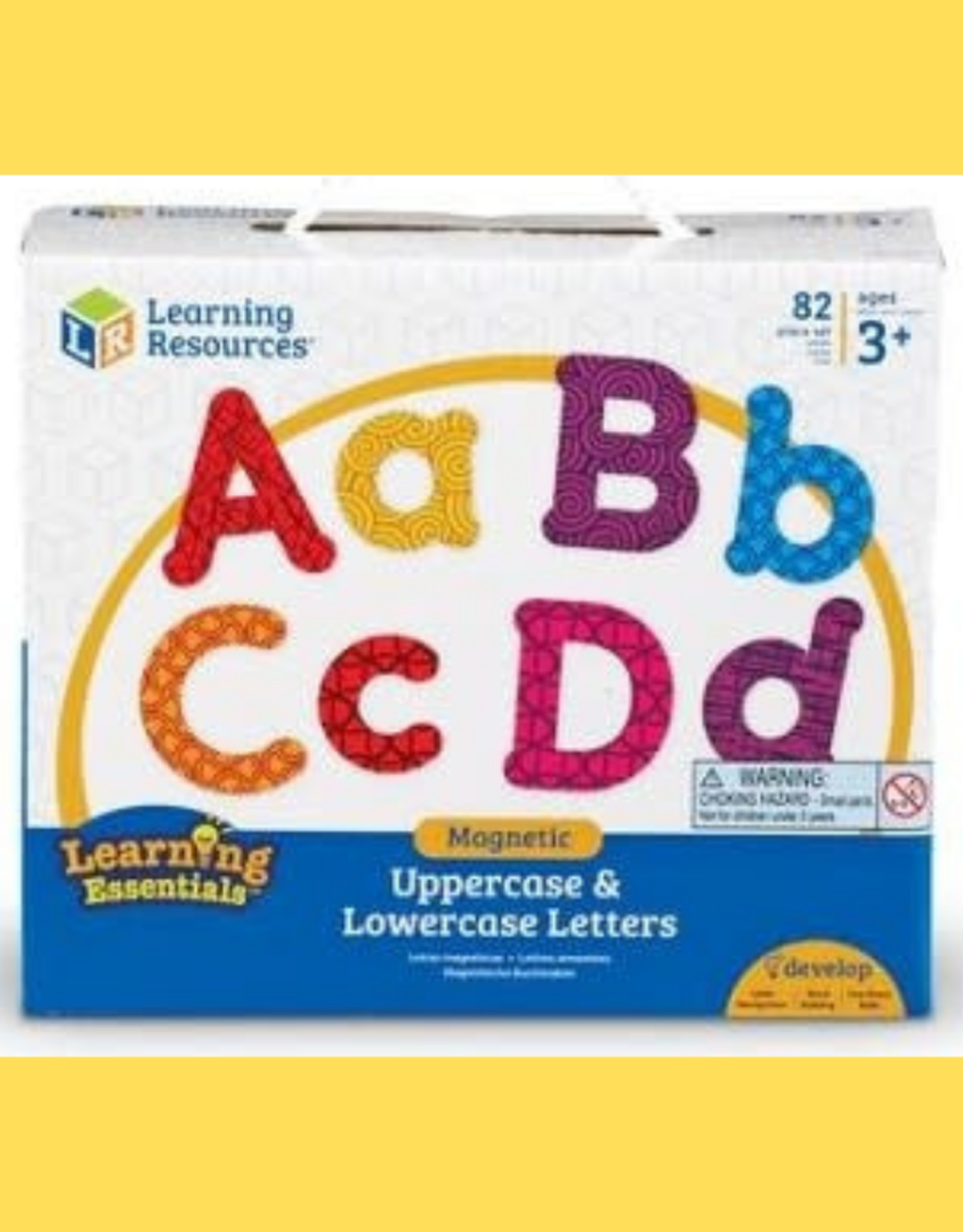 Learning Resources UPPERCASE & LOWERCASE MAGNETIC LETTERS  82PC