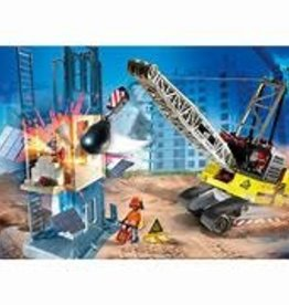 CABLE EXCAVATOR W/ BUILDING SECTION