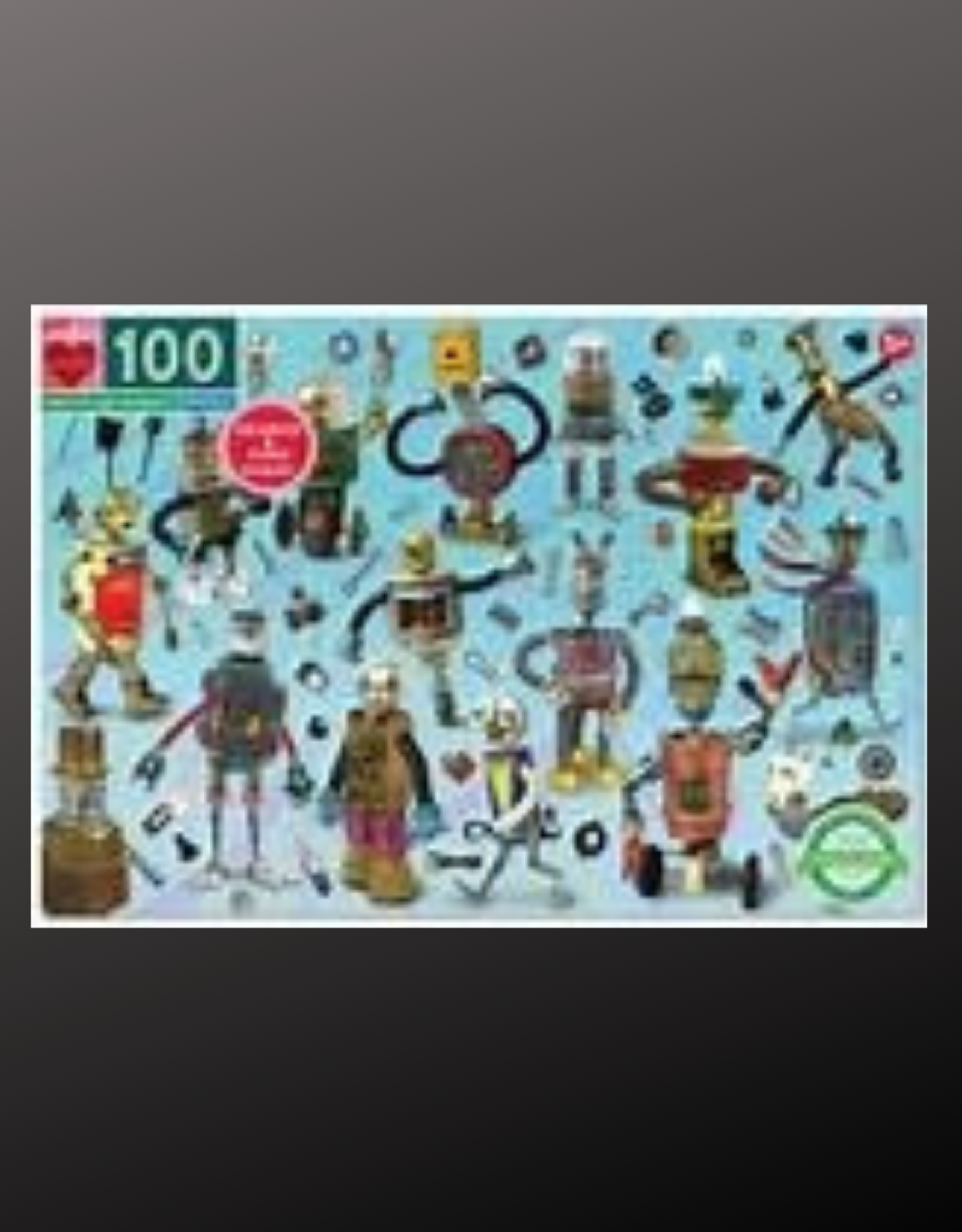 PUZZLE PUZZLES PUZZLE 100 PC UPCYCLED ROBOTS